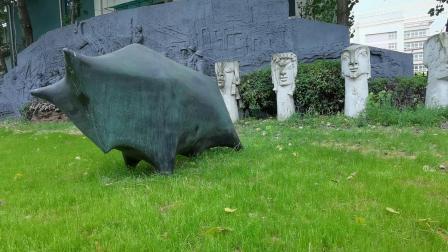 Bronze paisagem urbana para a praça e decoração de jardim