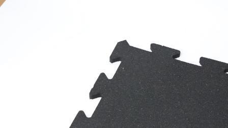 Ginásio de borracha de intertravamento de azulejos do piso/ Puzzle Home Ginásio Fitness reciclado do Tapete de Borracha