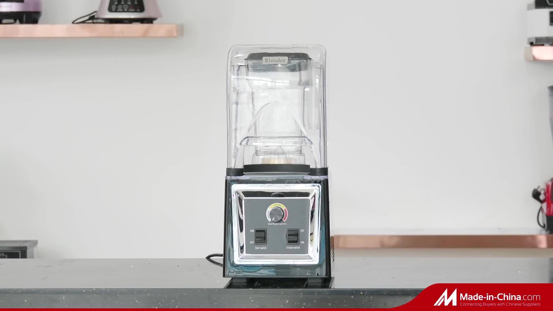 LY8001-2L تصميم جديد عازل للصوت غطاء خلاط ثلج مع نحاس نقي الموتور