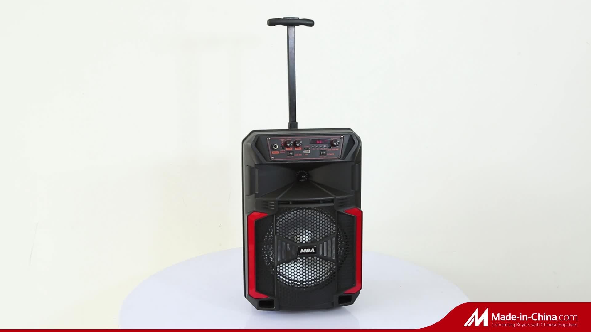 8 Cm Neues Tragbares Home Entertainment-System Mini Karaoke Kabelloses Bluetooth Karaoke Mikrofon-Lautsprecher Mit Lautem Trolley-Audio