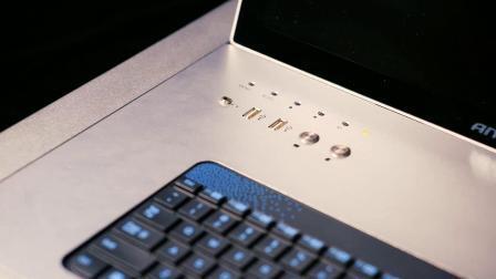 15.6-inch conferentiesysteem met microfoon en elektronische tafelkaart