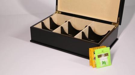 Lussuoso ed esclusivo Tea Chest di Twinings in legno scuro