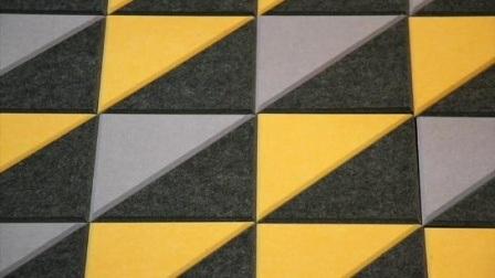 Dekorative Panel / Polyester-Faser Schneidplatte