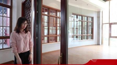 De alta calidad personalizables salto térmico de aluminio/madera/aluminio/PVC/Cristal Vidrio Madera corrediza/Bi-Folding Interior/sala de baño con puerta de entrada