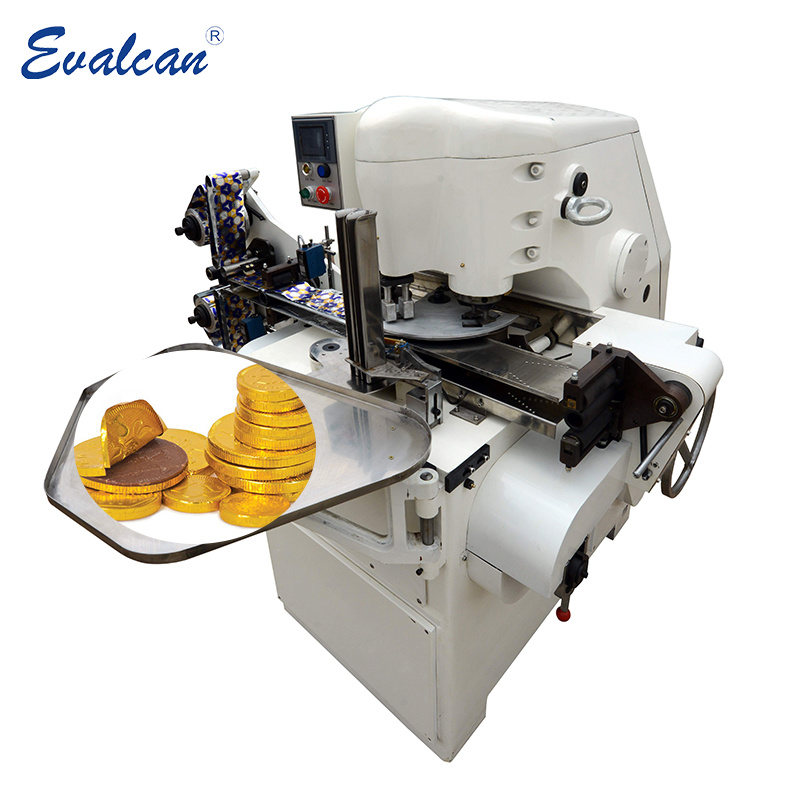 Pièce d'or automatique de papier aluminium chocolat Cash Machine de conditionnement d'emballage de l'enrubanneuse de liage