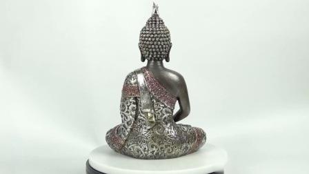 Nieuw kom Standbeeld van Boedha van de Hars van de Zitting van de Lijst van Feng Shui het Decoratieve Mediterende voor Huis aan
