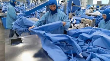 AAMI livello 3 - Nuova tuta di isolamento prodotto - Vist. Di sicurezza Con bracciale monouso in tessuto abbigliamento protettivo per abiti chirurgici