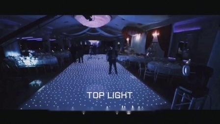 Lumière portable vers le haut LED Disco mariage blanc étoilée les panneaux de plancher de danse de voitures