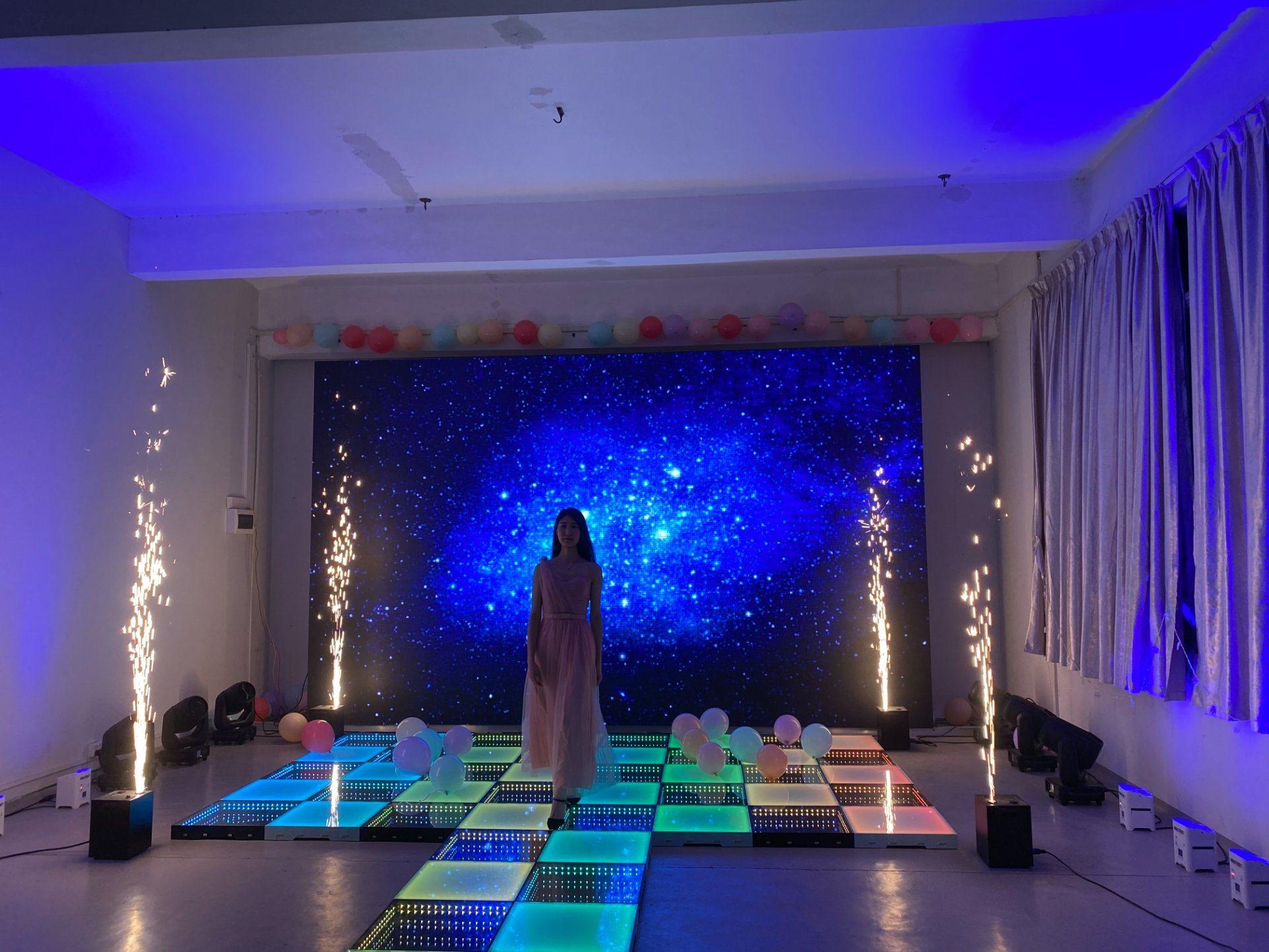 純 LED フルカラーディスコ照明付き 3D ダンスフロアレンタル ダラス