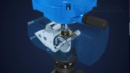 Drehvierteldrehung-elektrischer Stellzylinder für Kugelventil und Drosselventil