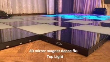 可動式磁気接続 3D ミラーダンスフロア用