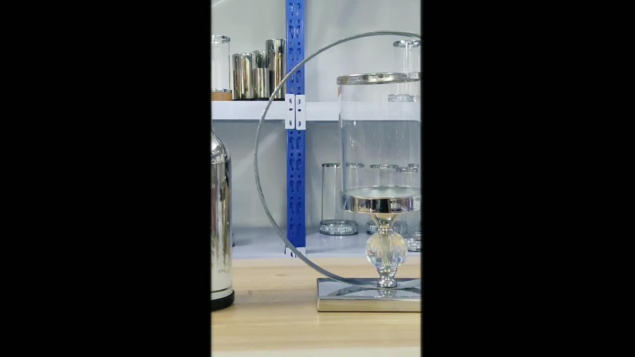 Porta candela decorativo a 1 sfera di cristallo per decorazione della stanza