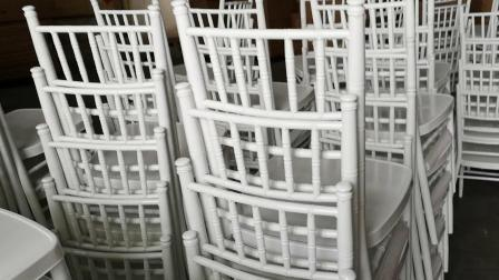 Weiß Farbe Stapelbare Metall Chiavari Aluminium Hochzeitsstühle