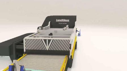 Landglass Принудительная конвекция плоской низкой E четкие 4мм и один изгиб Bet автомобиле стекла смягчении и гибочный станок