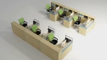 Estação de trabalho de escritório com partição moderno mobiliário de escritório