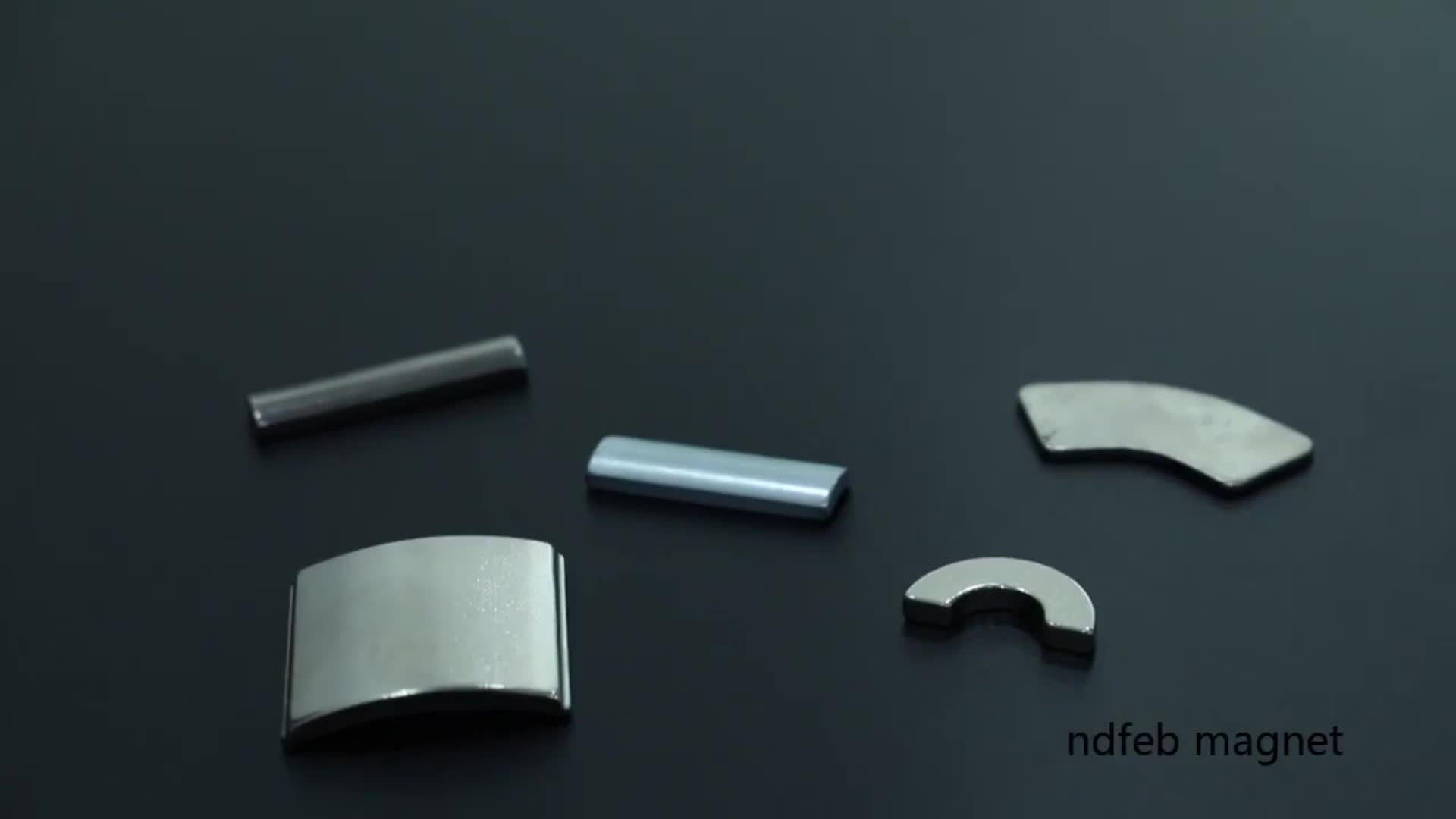 Металлокерамические NdFeB пользовательского Мощный магнит
