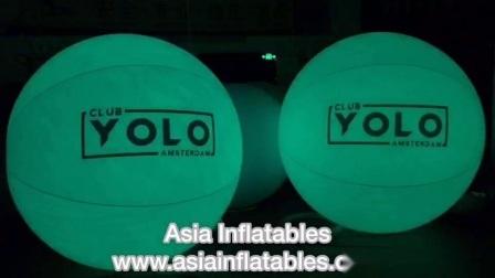 Opblaasbare LED-ballon met licht water en drijvende decoratie