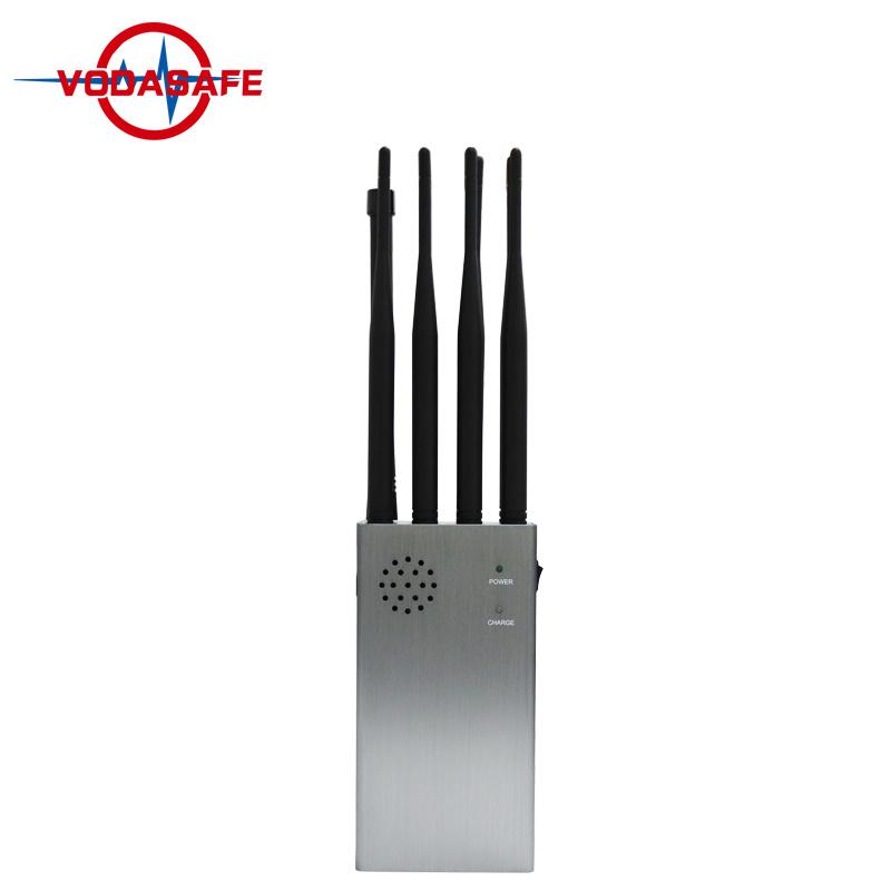8 antenas WiFi 3G 4G de mano GPS Coche Remote Jammer 8 W de alto poder de control remoto de bloqueo Blocker