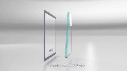 [لندفك] بيجيّة حفظ [أو-فلو] 0.4 رقيقا [8.3مّ] طاقة - توقير وتكثّف حرّة يليّن نافذة فراغ زجاج
