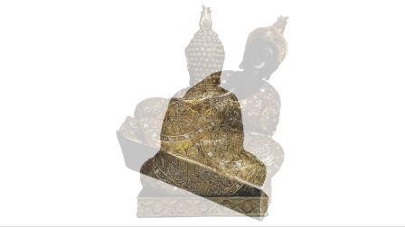 Standbeeld van Boedha van de Meditatie van de Zitting van de Kleur van het Decor van het Huis van Zen van de hars het Gouden Thaise