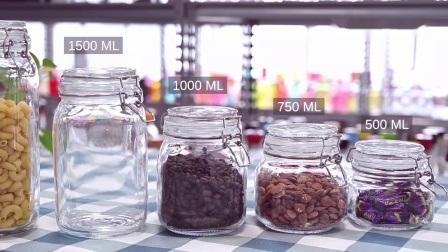 علبة تخزين زجاجية محكمة الغلق سعة 0.5 إلى 1.5 لتر مع قفل من الفولاذ المقاوم للصدأ دورق من الفولاذ المقاوم للصدأ مزوّد بدورق من ماسون مع أغطية مفصّلة