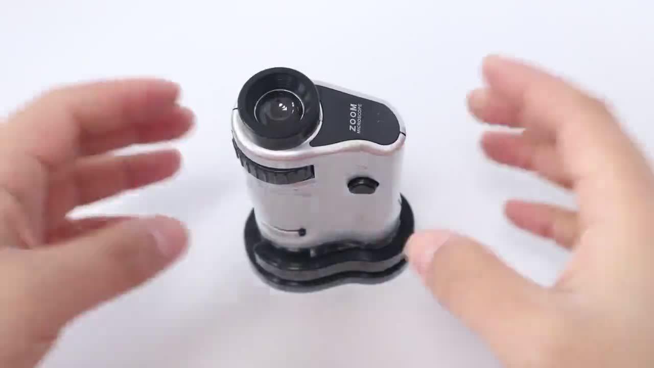 Mg10081-8 、 LED ライト付き、ベース 20 X -40 X 多機能ミニポータブル高出力顕微鏡