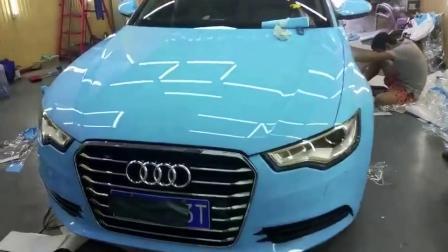 1,52*18М Авто принадлежности голубой Super глянцевая Crystal наматывается виниловая наклейка крышки автомобиля