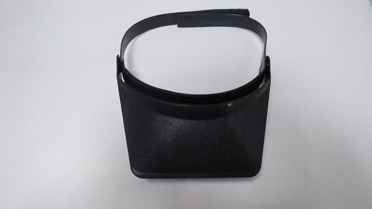 ヘルメット型拡大鏡 Mg81005 メンテナンス新聞マルチファンクション拡大鏡