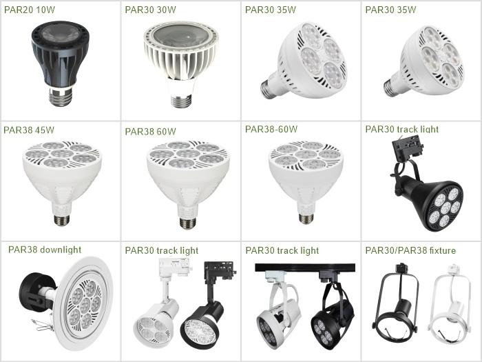 35W LED PAR30 전구 110V 220V ETL E26 E27 30W 3000K 4000K 8000K 10000K 트랙 레일 LED 주얼리 라이트 플러드 디미블 LED 파 30 PAR30
