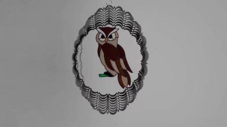 Venda por grosso de metais de decoração travando 3D Vento Animal o rotor