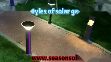 Lâmpada de iluminação economizadoras de energia Alu. LED de exterior material Luz Jardim Solar com bateria e painel solar de 5 W