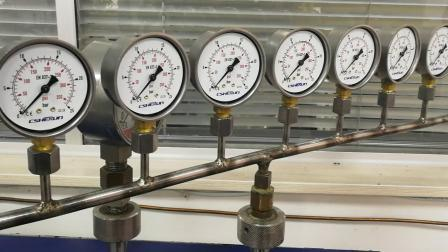 Roestvrijstalen drukmeter voor de machine