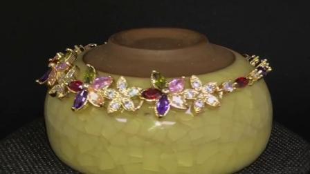 monili di gomma del braccialetto dell'uomo della catena del braccialetto del braccialetto del cuoio di fascino di modo placcati oro 18K per le donne