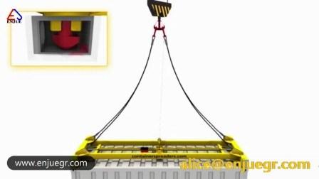 20 pieds 40 pieds de longueur fixe de conteneur semi-automatique de l'éparpilleur de levage mécanique de l'éparpilleur
