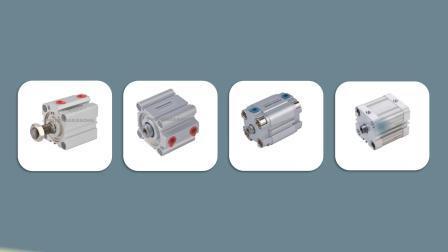 Tipo de Ação Dupla Série Advu compacto pneumática do Cilindro de Ar