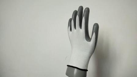 Facile à respirer en nitrile Gants de protection du travail des gants de travail du site Wear-Resistant glissante Oil-Resistant Gants Gants d'entretien des machines de manutention