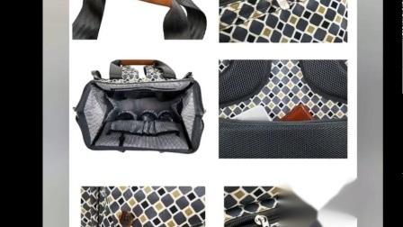 Nylonmamatote-Windel-Handtaschen-mütterliches Beutel-Baby-ändernde Matte