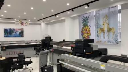 UV-Flachbett-Digitaldrucker Drucken auf Glas mit goldener Farbe