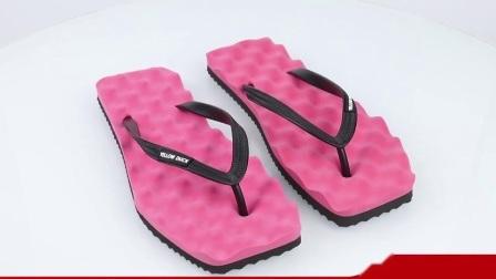 Pistone poco costoso di flip-flop del PVC del rifornimento del fornitore con EVA Outsole, vibrazione Folps della spiaggia per gli uomini /Women