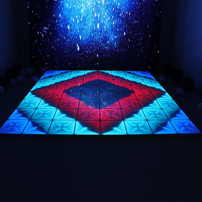 Meilleure vente 1*1m LED RVB de lumière Étape piste de danse