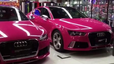 Acessório de automóveis Ondis 1,52 X 18m Rose Red Super Carro de metal brilhante Vinil Cintagem Vinils Autowrap