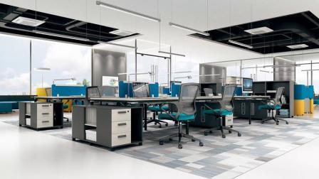 Современный центр обработки вызовов раздел 4 человек офисной мебели для рабочих станций