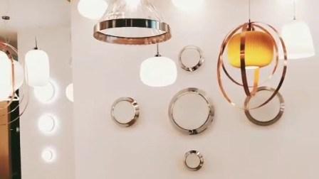 Moderno hotel de la luz de techo LED decorativos de vidrio
