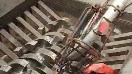 Zwei Welle-Reißwolf für Metall, Plastik und HDPE Rohr