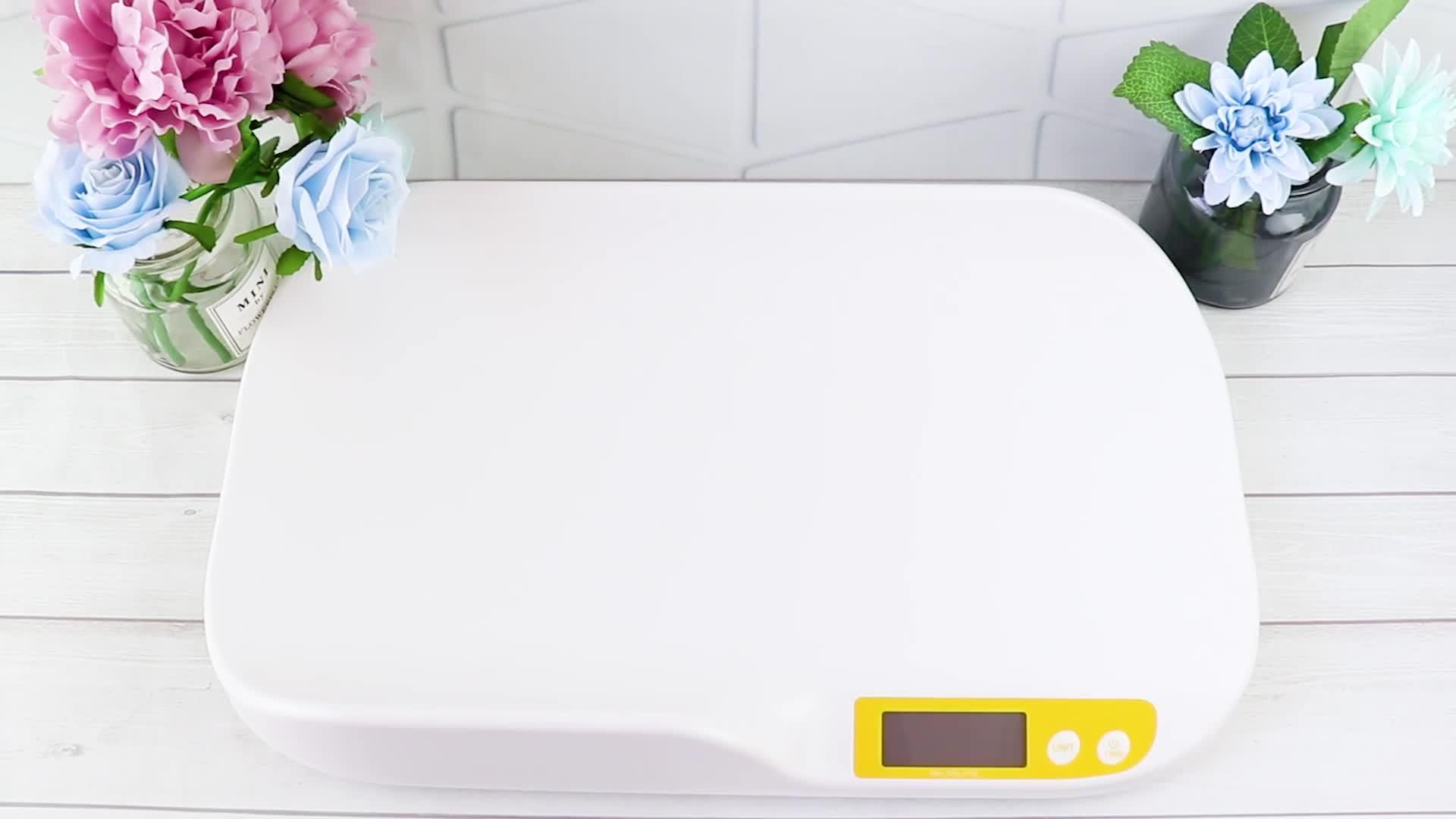 Venda a quente em plástico ABS de alta precisão digital eletrônica de Segurança da Curva da escala de bebé