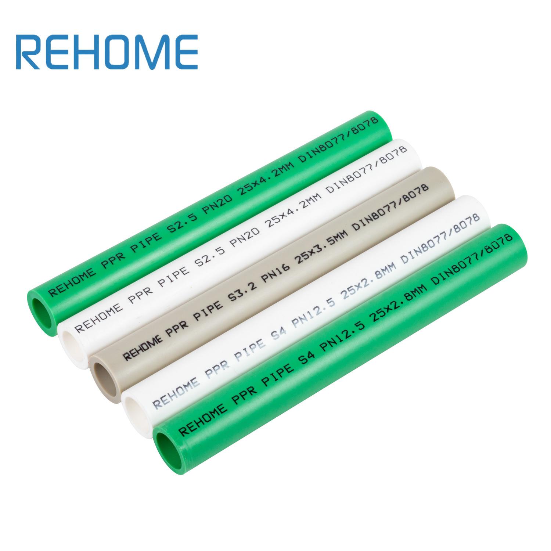 La couleur verte 110mm PPR tuyau pour alimentation en eau