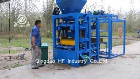 machinerie de construction Qt machine à fabriquer des blocs4-26 Semi-automatique