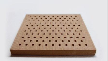 Theater MDF Schallschutzpaneel Bambus Holz perforierte Akustikpaneel