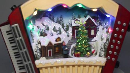 Customized Resina antigo LED Musical de TV em movimento Santa Casa Natal de Item de decoração