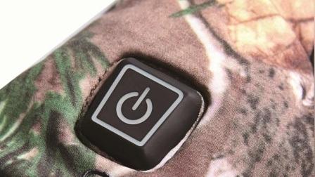 Guanto riscaldato Camouflage ricaricabile con 3 livelli di Smart Control